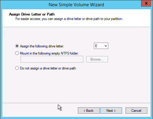 assign drive letter through registry