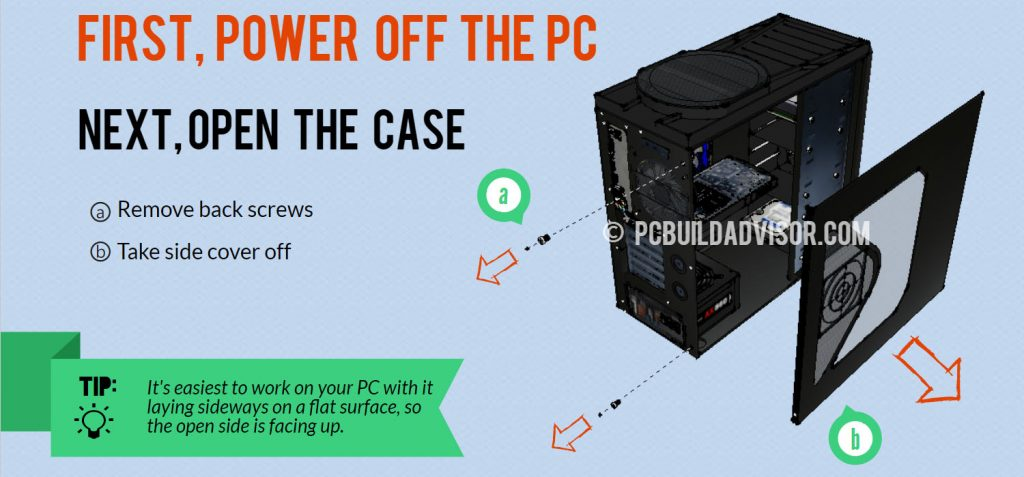 how to reeplace computer power supply - open case