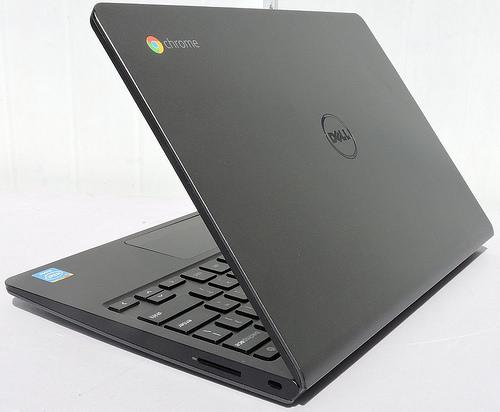 chromebook with logo